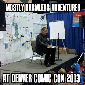 One of the many adventures we had at 2013's Denver Comic Con was watching William Shatner reading WHERE THE WILD THINGS ARE to a small group of children and their very excited parents!