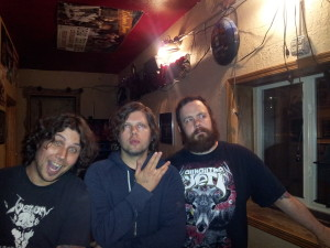 A bizarre sort of Dax Riggs sandwich occurred at the Triple Nickel Tavern. With Bryan Ostrow, Dax Riggs and Damian!