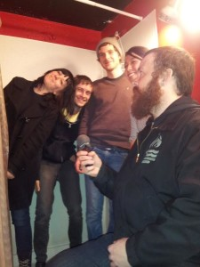 Getting Wild with THE WILD (Get it? GET IT?!) in the bathroom of the Aggie Theater in Fort Collins. (Left to Right - Kylie, Dakota, Witt, Dianna and Damian on the Can.)