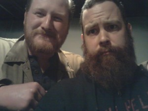 Northcote's Matt Goud and Dammit Damian. Red Bearded brothers for life.