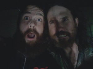 Taking silly selfies with Chuck Ragan at 2am in Denver.