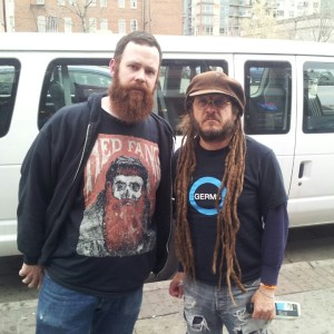 A rare smile from Keith Morris, vocalist of OFF, Circle Jerks and founding member of Black Flag. Damian was stunned to be in his presence. Side note, Damian wore a OFF shirt when interviewing Red Fang. It only felt right to wear Red Fang to interview OFF!