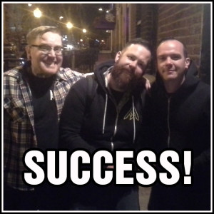 Aaron-Rev Peters & Austin Jones of SUCCESS, after a SUCCESSFUL interview with Dammit Damian!